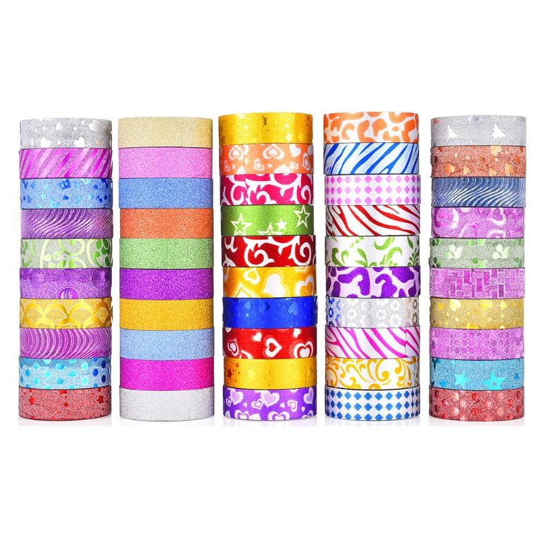 Băng dính washi tape nhũ ánh kim bao bì quà tặng, trang trí sách, DIY thủ công, album ảnh trang trí - 14397339 , 2641893396 , 322_2641893396 , 5000 , Bang-dinh-washi-tape-nhu-anh-kim-bao-bi-qua-tang-trang-tri-sach-DIY-thu-cong-album-anh-trang-tri-322_2641893396 , shopee.vn , Băng dính washi tape nhũ ánh kim bao bì quà tặng, trang trí sách, DIY thủ