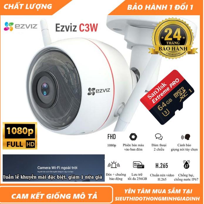 Camera WIFI Ezviz Ngoài Trời Thông Minh EZVIZ 2Mpx C3X C3N MÀU BAN ĐÊM 1080P FullHD CV310 C3W C3WN HIKVISION [BH 24TH]