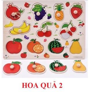 Đồ chơi bảng núm gỗ chủ đề hoa quả 2 cho bé