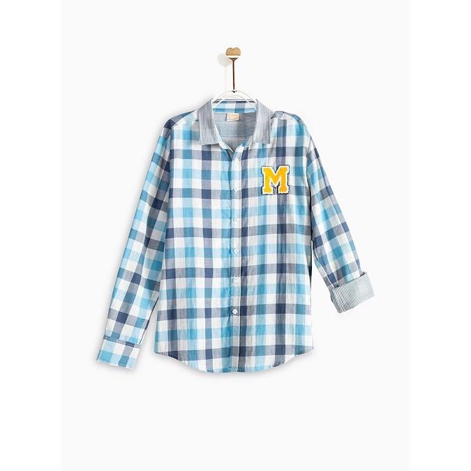 Áo Sơ Mi Dài Tay Bé Trai M.D.K Plaind Woven Shirt M.D.K