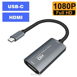 Aluminum Alloy Game Teaching Plug And Play Live Streaming HDMI To TYPE C Record Via DSLR Video Capture Card