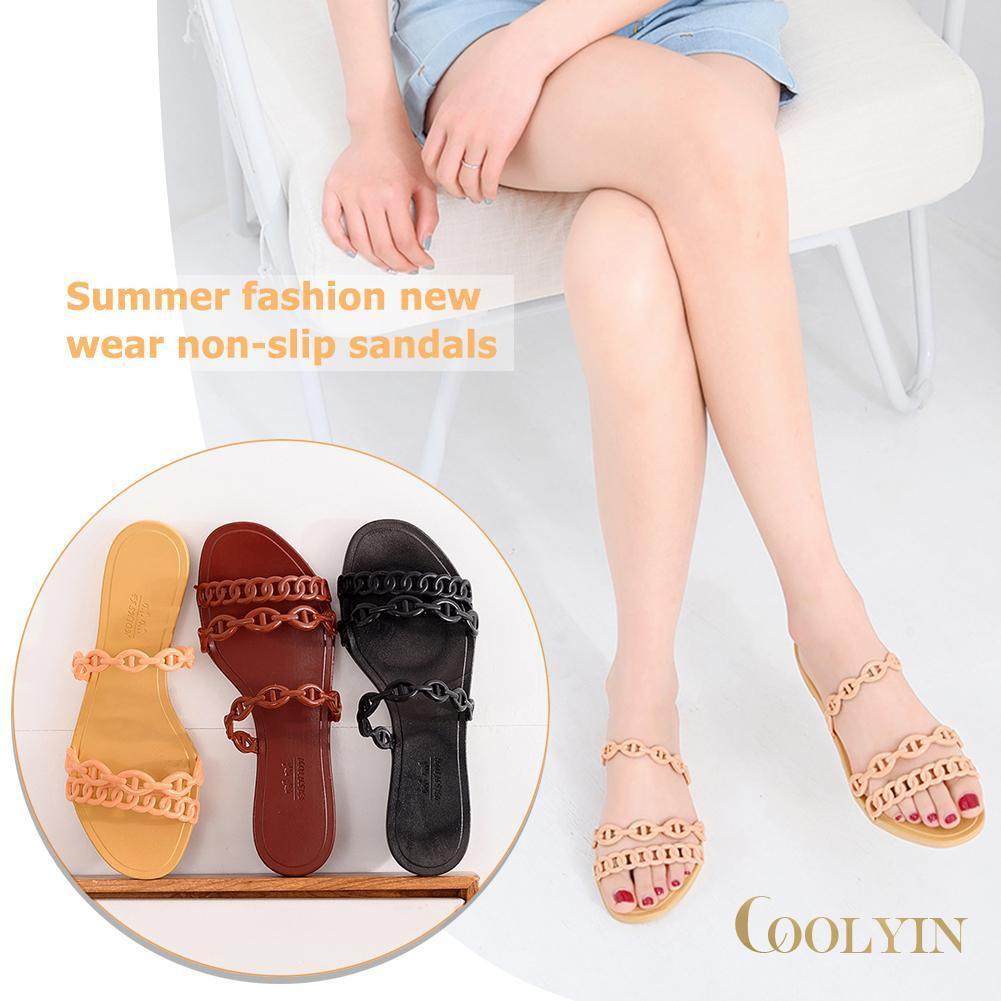 🍑Fashion Girls Anti-slip Summer Outdoor Women Flat Slippers