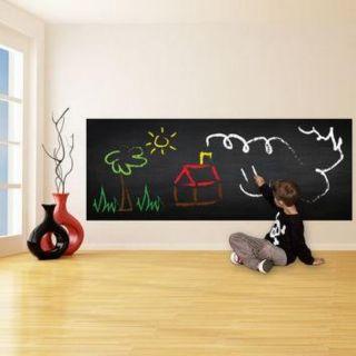 Decal dán tường bảng đen size lớn 200×60 – tặng phấn