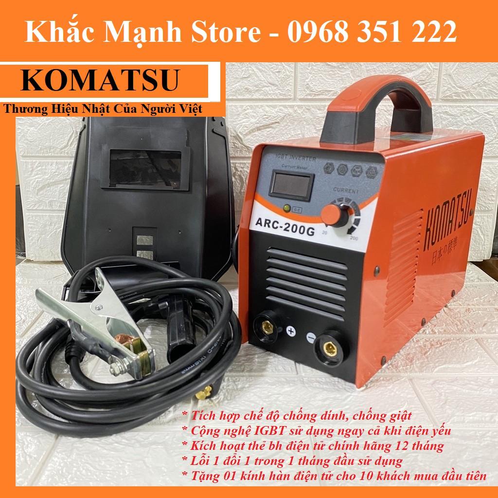 Máy hàn điện từ KOMATSU ARC-200G Thương Hiệu Nhật Của Người Việt - Tặng Kính hàn điện tử