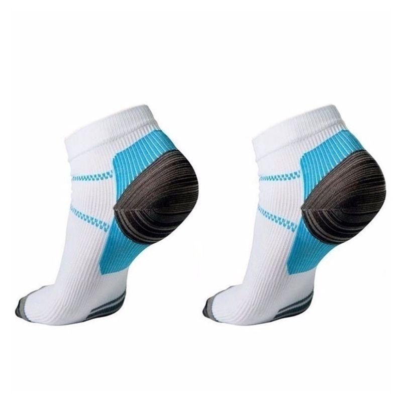 HAN❀ 1 Pair Mens Plantar Fasciitis Elastic Compression Low Cut Short Ankle Socks
