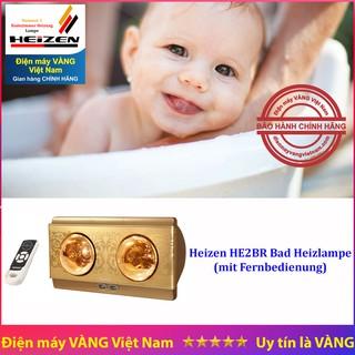 Đèn sưởi nhà tắm 2 bóng vàng Heizen HE2BR (có điều khiển từ xa) [HE-2BR]
