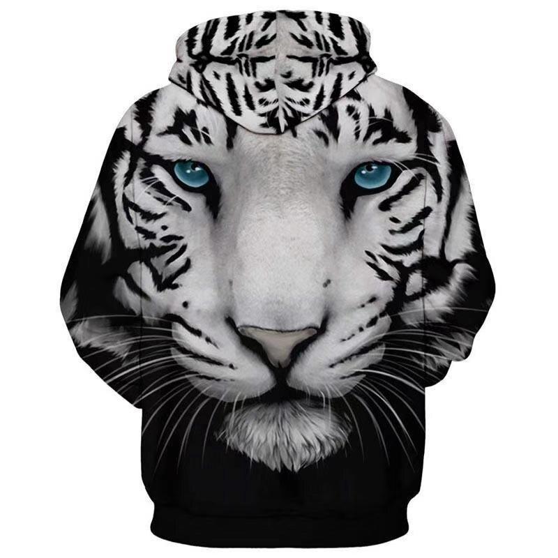 Áo có nón tay dài in hình chú hổ thời trang cho nam nữ