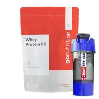 Whey protein concentrate Go Nutrition Whey Protein 80 1kg/40 Lần dùng – Hàng chính ngạch nhập UK tăng cơ giảm mỡ tập gym