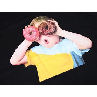 Hình ảnh Áo Thun Tay Lỡ Stone Dáng Unisex Form Rộng In Hình Baby Face Donut 100 Cotton TQ01-1