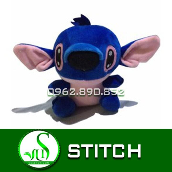 Gấu bông stitch kute size 45cm - stitch xanh