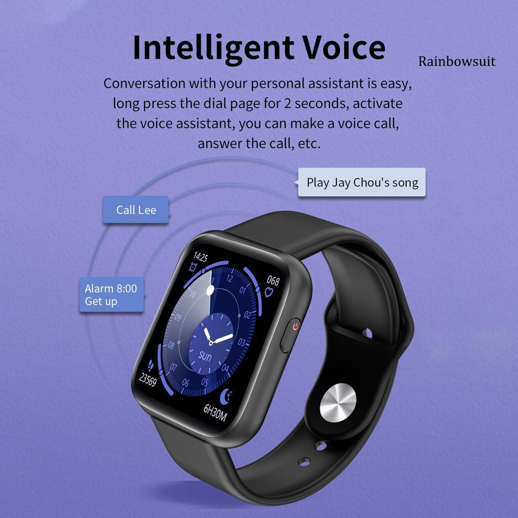 Đồng Hồ Đeo Tay Thông Minh Rb- Y68 Plus Bluetooth Theo Dõi Sức Khỏe Có Thể Sạc Lại