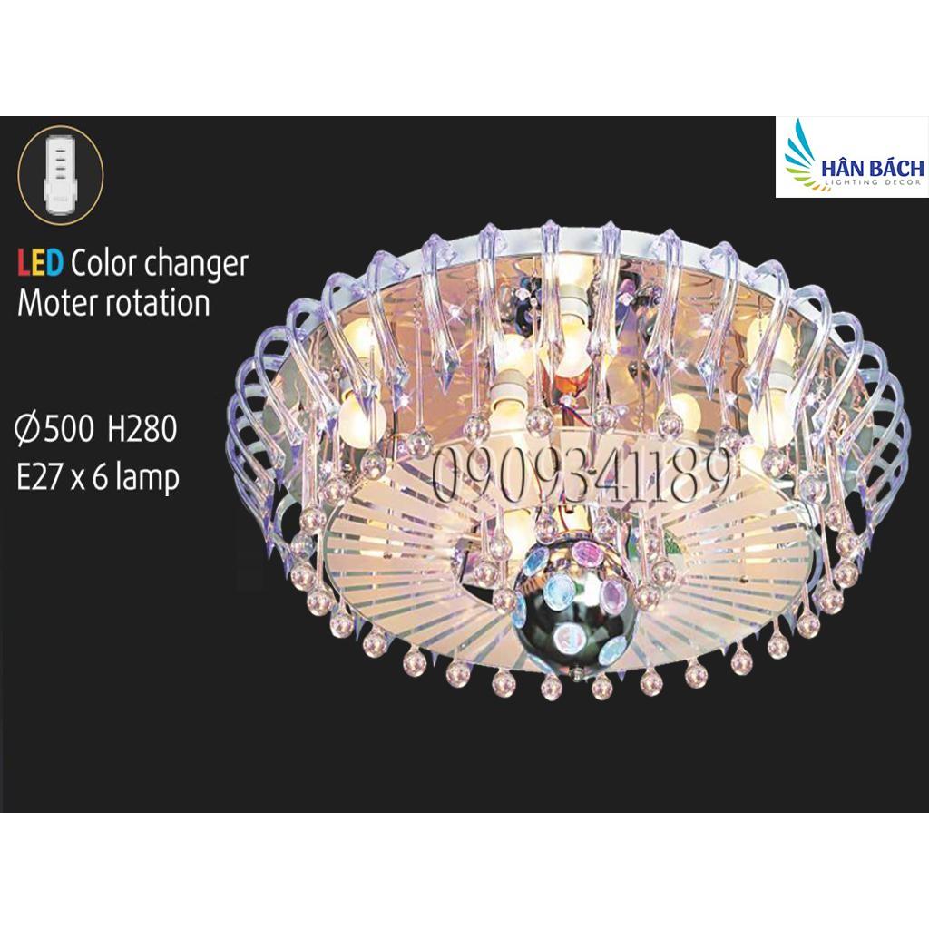 ĐÈN ỐP TRẦN LED (PHI 500mm x H280mm)
