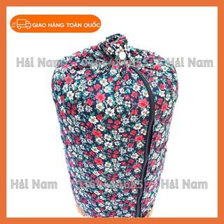 Áo lồng khuyên vải hoa đẹp, áo có khóa kéo thumbnail