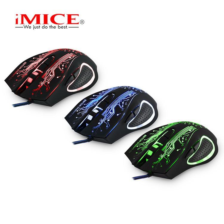 Mouse Gaming IMICE X9 Dây dù - Led 7 màu