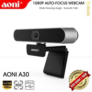 Aoni A30 – Webcam Họp Trực Tuyến Góc Rộng 92 Độ, Livestream FullHD 1080p 30fps, Lấy Nét Nhanh 0.7s