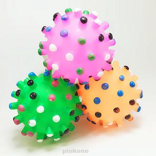 Funny Pet Toy A Ball Squeeze Rubber Resistance To Bite Molars Toys Dog Pinball Balls