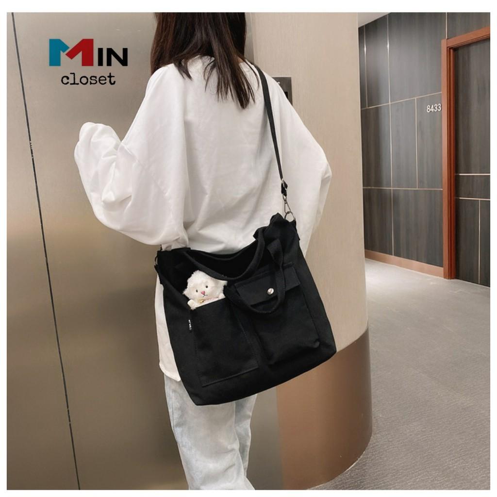 Túi đeo chéoTúi vải Tote vải Canvas Phong Cách Hàn Quốc TV18 thumbnail