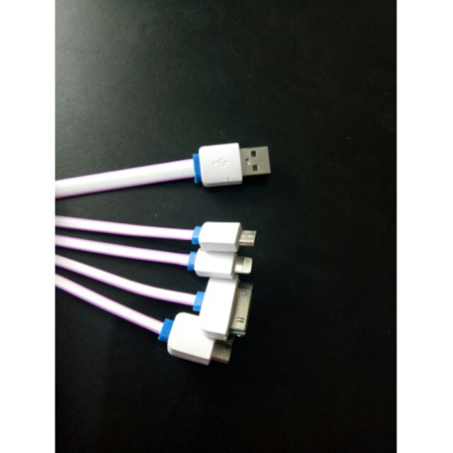 Cáp sạc điện thoại 4 đầu đa năng - 2634161 , 453411016 , 322_453411016 , 38000 , Cap-sac-dien-thoai-4-dau-da-nang-322_453411016 , shopee.vn , Cáp sạc điện thoại 4 đầu đa năng