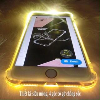 Ốp Lưng Chống Sốc Phát Sáng iPhone 5, 5s, 6, 6s, 6 Plus, 6s Plus, 7, 7 Plus, 8, 8 Plus, X, XsMax