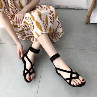 Giày Sandal Chiến Binh Cao Cổ Dây Kéo Xỏ Ngón
