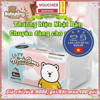 Khăn giấy rút Minibear chuyên dùng cho mẹ và bé thương hiệu Nhật Bản, an toàn cho làn da bé thumbnail