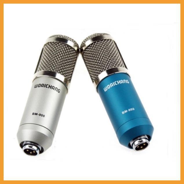 ⚡Giá Rẻ⚡ Mic thu âm BM900 livestream dùng kết hợp với suondcard K10 và H9,V8,V10 hát Karaoke - Bh 6 tháng
