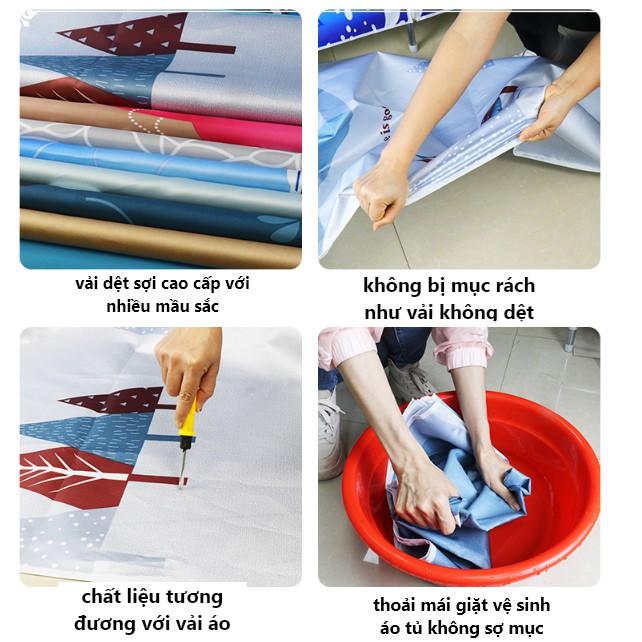 Tủ Vải Đựng Quần Áo Tủ Treo Quần Áo Vải 3 Buồng Khung Thép Loại 1 Vải Cotton Khung Thép Siêu To22mm