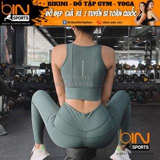 Đồ Tập Gym Yoga Nữ Bộ Quần Dài Áo Bra Kèm Mút Cao Cấp Bin Sport BD051