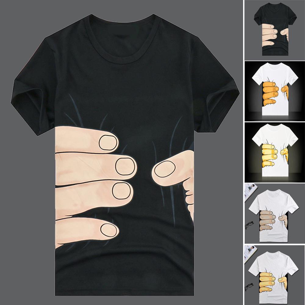 Women Men Short Sleeve T-shirt Creative Cartoon Print Shirt Casual Fashion Tee