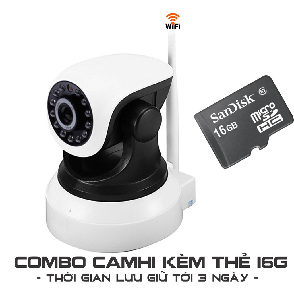 [COMBO] Camera IP WIFI/3G CAMHI tặng thẻ 16gb