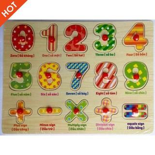 [ẢNH TỰ CHỤP] – Bảng số cộng trừ nhân chia có núm cho bé