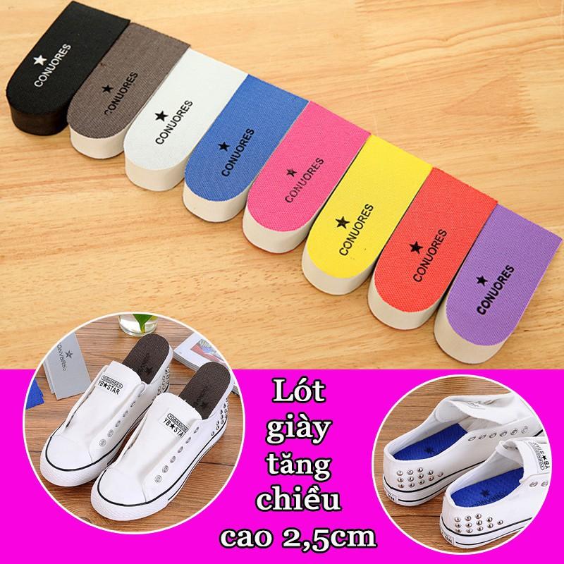 Bộ hai miếng độn giày tăng chiều cao - mút xốp - tăng 2,5cm