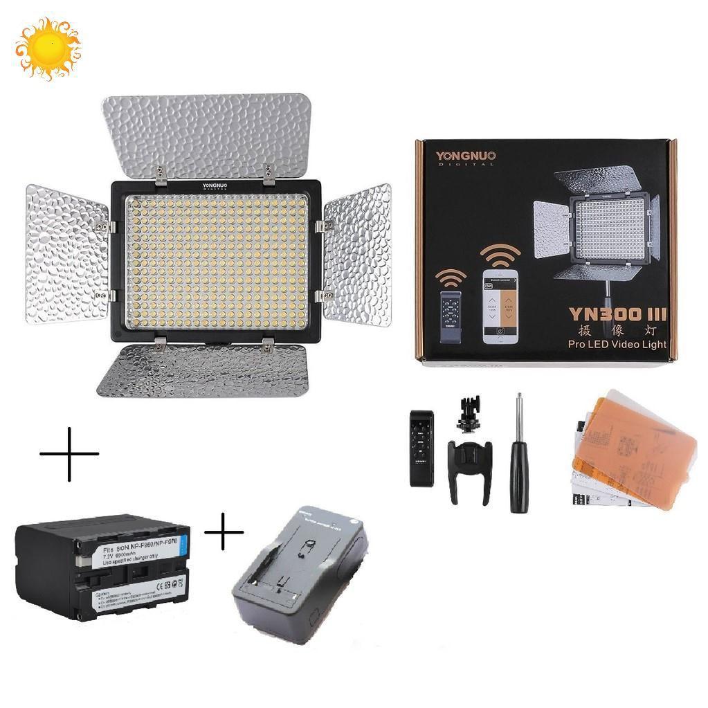 [NHẬP ELMIJUNE HOÀN 40K XU] Combo đèn Led Video Light Yongnuo YN-300 lll + pin sạc F970