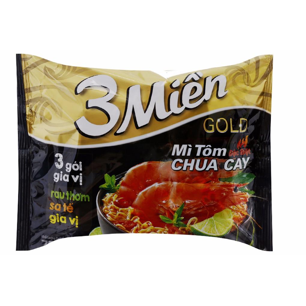 Mì tôm chua cay 3 Miền Ăn liền gói 75g mới