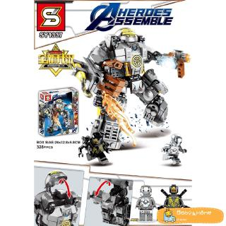 hero series steel armor puzzle building blocks toys compatible with Legoset