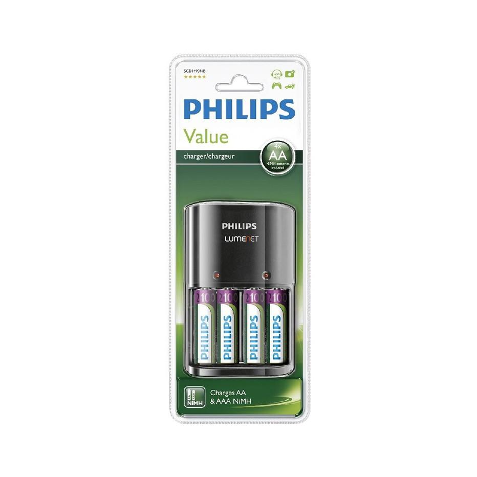 Bộ pin sạc AA Philips, Kèm 4 Pin sạc AA 2100mAh