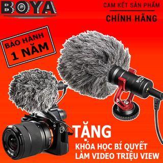 Hàng Chính Hãng   Micro Boya BY-MM1 thu âm cao cấp cho máy ảnh DSLR, action camera, và điện thoại