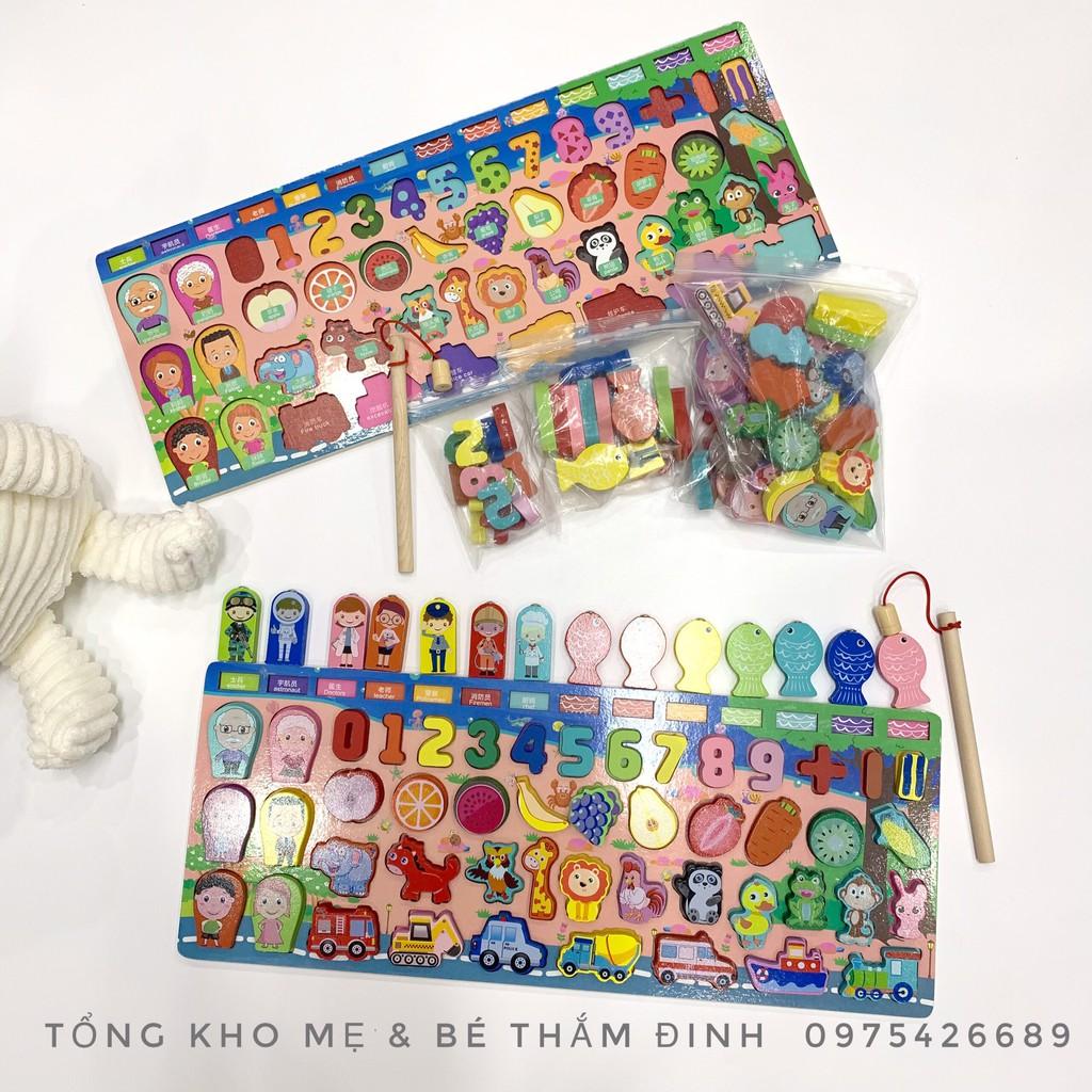 THẮM ĐINH] Bộ đồ chơi câu cá gỗ kèm bảng số học thông minh cho bé 8 tháng -  6 tuổi tại Hà Nội