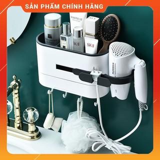 Kệ để đồ phòng tắm, kệ đựng mỹ phẩm đa năng dán tường siêu chịu lực