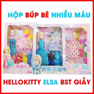 Đồ chơi búp bê, Búp bê công chúa Elsa,Bộ sưu tập giầy cho búp bê, Búp bê cho bé gái, búp bê Hello Kitty thumbnail