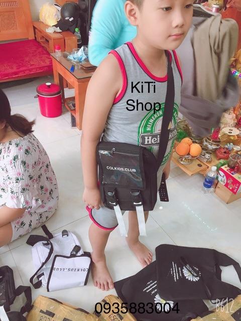[TRỢ GIÁ]Túi đeo chéo phản quang mini bag thời trang kiểu mới ss3 chữ COLKIDS CLUB tiện dụng cho nam và nữ stylekitishop