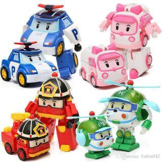 Biệt Đội 4 xe Cứu Hộ Poli Biến hình thành Robo Có Ảnh Thật