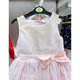 Váy công chúa hồng bồng xòe đính nơ - RABBITSHOP