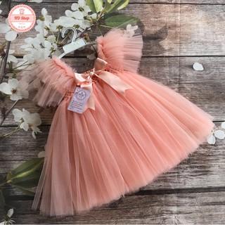 Váy công chúa cho bé ❤️FREESHIP❤️ Váy công chúa hồng cam cánh tiên