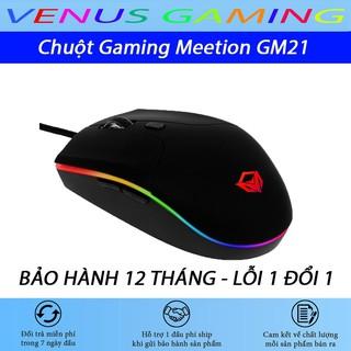 Chuột Gaming Meetion GM21 - Đèn led RGB cực sáng - Có led viền - Cam kết chính hãng - Bảo hành 12 tháng - Lỗi 1 đổi 1 thumbnail