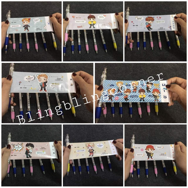 Bút kéo 7 thành viên & cả nhóm BTS