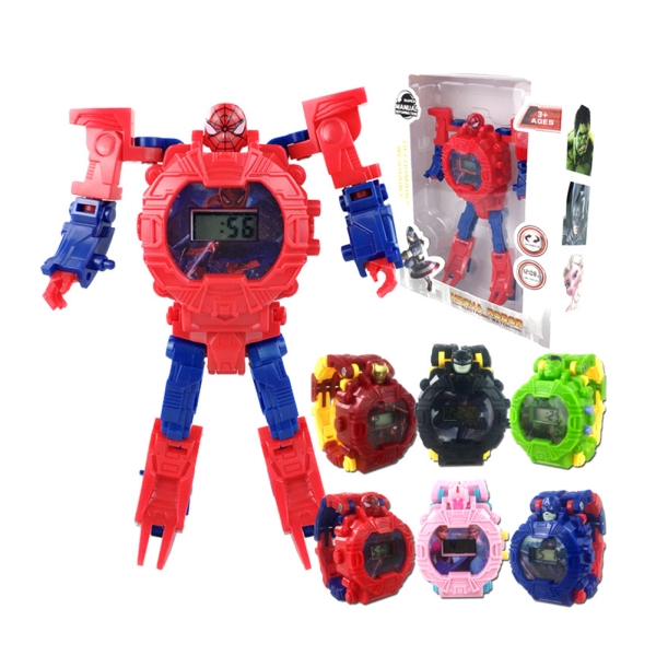 Children Cool Cartoon Movie Figure Electronic Watch with Light Kid Toy