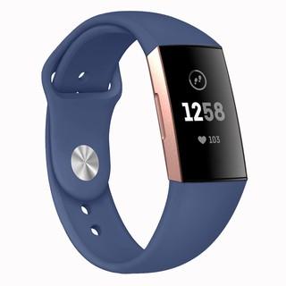Dây Đeo Thay Thế Chất Liệu Silicon Thiết Kế Nhiều Lỗ Thời Trang Cho Fitbit Charge3 4