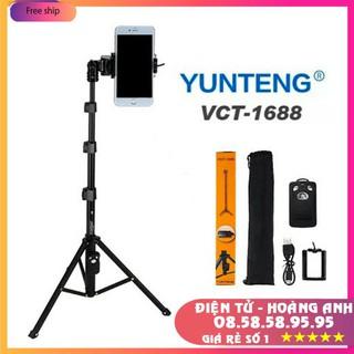 Gậy Chụp Hình 3 Chân Yunteng VCT-1688 Kèm Đầu Kẹp Điện Thoại, Túi Đựng Và Remote Bluetooth