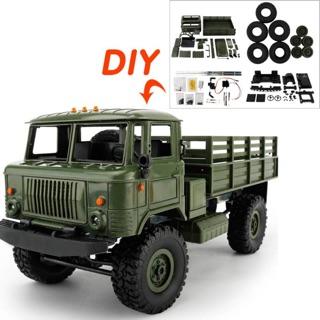 Xe ô tô tải quân sự WPL GAZ 66 – Military Truck 4×4 1:16 (Màu xanh bộ đội)